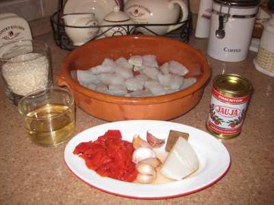 ingredientes de arroz con bacalao